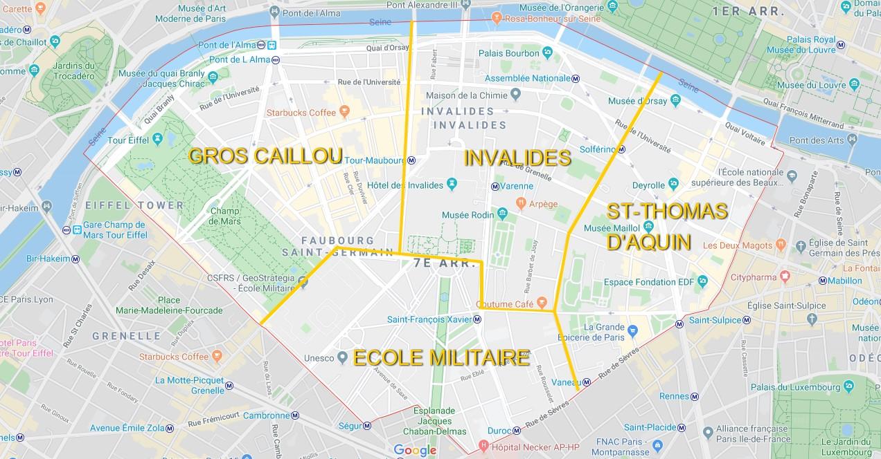plan de paris 7ème arrondissement