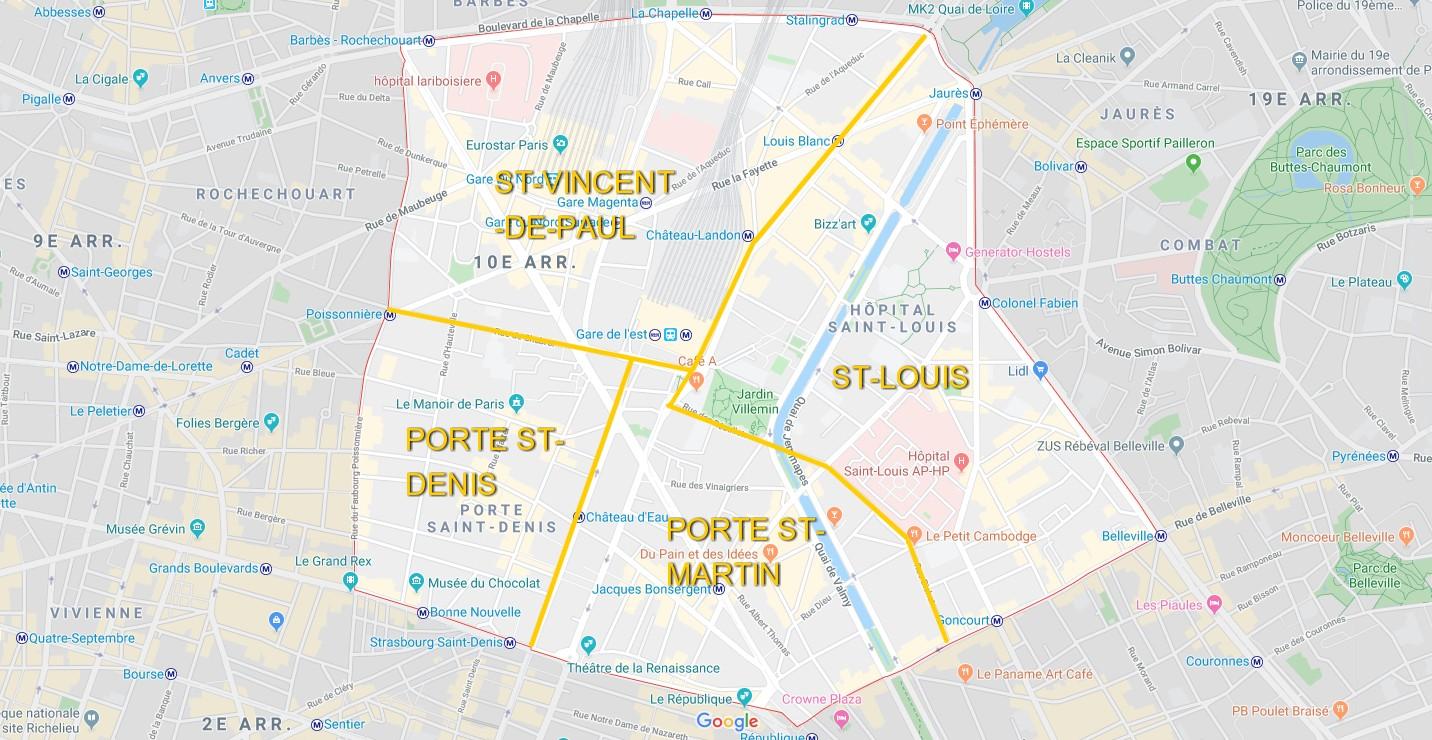 plan 10ème arrondissement